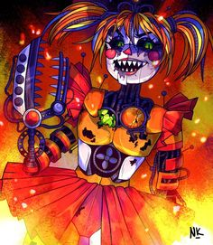 scrapbaby inferno - fivenightsatfreddys Five Nights At Freddy's, Baby Fnaf, Freddy Toys, Fnaf Wallpapers, Fnaf Sister Location, Circus Baby, Fnaf Characters, Freddy Fazbear, Fnaf Drawings