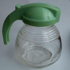 Glass Syrup Jar