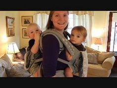 Babywearing Twins Tutorial - YouTube