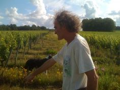 Perfect picture for profile of Clos Roche Blanche and interview with winemaker Didier Barrouillet on LOUIS/DRESSNER site.