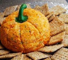 Tierney Tavern: Pumpkin-Shaped Mexican Cheese Ball