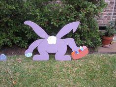 décoration de Pâques: découpez des lapins en carton et colorez-les