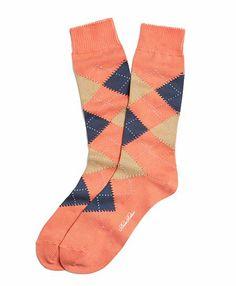 Brooks Brothers Orange Argyle Crew Socks for men Wedding 2015, Home Wedding, Summer Wedding, Brooks Brothers Men, Apple Logo, Dress Socks, Groom Style, Groomsmen, Coral