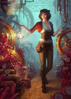Explorer by Viccolatte. #steampunk #victorian #Art #gosstudio .★ We recommend Gift Shop: http://www.zazzle.com/vintagestylestudio ★