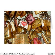 Shop Love Padlock Valentine's Day Card created by prettyfancygifts. Valentines Day Weddings, Paper Texture, Smudging, Holiday Cards, Wedding Day, Seasons, Love, Prints, Color