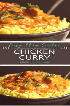 #Curry #chicken #crockpot #chicken #perfect slowcookerchickencurry easydinnerrecipes slowcookerrecipes chickencurry precooking incredibly required yourself minimal through chicken perfect family dinner saving This incredibly easy slow cooker chicken curry recipe is a perfect family dinner No precooking reqYou can find Curry chicken crockpot and more on our website Crock Pot Recipes, Chicken Recipes, Cooking Recipes, Healthy Recipes, Beef Recipes, Cooking Hacks, Recipes For Slow Cooker, Cooking Tools, Grilling Recipes