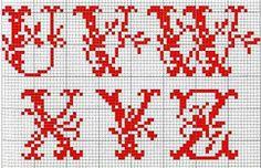Alfabeto rosso con foglie D