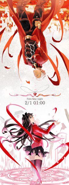 Fate/Stay Night - Rin Tohsaka & Archer (Shirou Emiya)