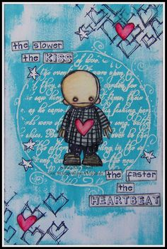 Artwork created by Crafty Sam using rubber stamps designed by Daniel Torrente for Stampotique Originals