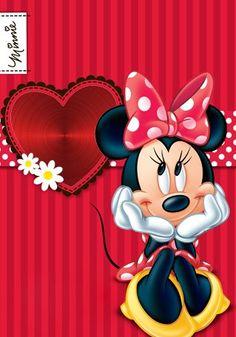 Valentines day Minnie Disney Mickey Mouse, Natal Do Mickey Mouse, Mickey Mouse E Amigos, Minnie Mouse Stickers, Mickey E Minnie Mouse, Mickey Mouse Christmas, Mickey Mouse And Friends, Mickey Mouse Wallpaper, Cute Disney Wallpaper
