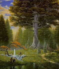 Ted Nasmith - The Great Tree at Caras Galadhon