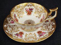 Lovely Antique Cauldon Cabinet Tea Cup & Saucer