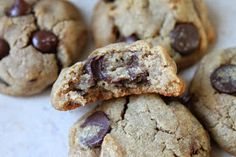 Fancy Food Thoughts : OMG Chocolate Chip Cookies! (Gluten Free, Vegan, Refined Sugar Free)