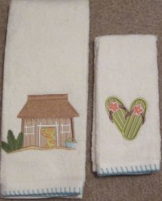 Awesome Surfu0027s Up Saturday Knight Tiki Hut Flip Flops Beach Hand And Fingertip Towel  Set Part 31