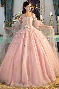 Fairytale dress prom - Aline Deep V neck Spaghetti Strap Wedding Dresses, Blush pink Bridal gown – Fairytale dress prom Blush Prom Dress, Pink Prom Dresses, A Line Prom Dresses, Pretty Dresses, Evening Dresses, Princess Dresses, Dress Prom, Elegant Dresses, Blush Dresses