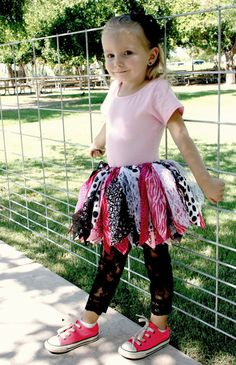 Fabric Scraps Tutu Skirt Fancy Nancy Inspired size by mytutucute, $24.99