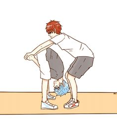 aki00113: Akakuro Somersault Kiss referenced from here It took me a while to decide who kuroko would do it with but then I was like Akashi is the most probable cause they're almost the same height. AHAHAHAHA //SHOT'D This took me A LOT OF PATIENCE TO MAKE AHAHA //CRIES I wasn't even supposed to color it cause I was so lazy but then BAM AHAH it was just too cute to pass up and since my break is ending soon I wont be able to do these things for a while //crY
