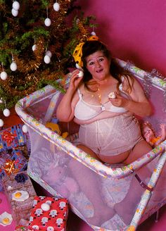 Merry Eggsmas! (And that ain't no yolk!) Model: Edith Massey #Christmas