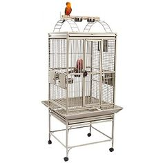 This Bolivia Play Gym Top Parrot Cage has a breeder door, seed catchers, slide out tray and more. Shop for your and more now. Parrot Cages For Sale, Caique Parrot, Flight Cage, Monk Parakeet, Senegal Parrot, Bird Types, Steel Cage, African Grey Parrot, Play Gym