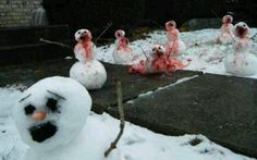 Snowman zombies attack!!