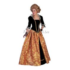 Kostuums: Rococco/barok dame maria-christina