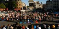 yoga flash mob. not just for dance anymore.