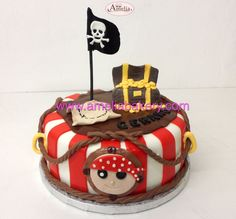 Tarta pirata - Tartas infantiles - Pasteles fondant - Pasteles personalizados