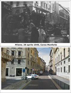 Liberazione di Milano Corso Monforte 29 #Aprile1945