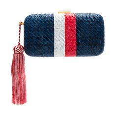 Designer Clothes, Shoes & Bags for Women White Clutch, Striped Bags, Straw Handbags, White Purses, Types Of Bag, Evening Bags, Florence, Clutches, Knitted Hats