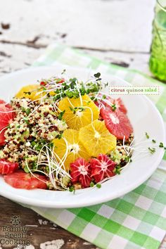 Citrus Quinoa Salad + 20 other quinoa salad recipes you should try this spring!