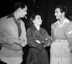 Barbara Stanwyck With Robert Young and Bob Taylor on the set of The Bride Walks Out.  @Simon & Schuster  @VickyWilsonBook