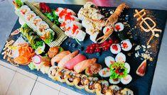 Tempura Sushi, Cheese, Table Decorations, Food, Home Decor, Decoration Home, Room Decor, Meals, Interior Design