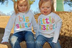 BIG SISTER Announcement Shirt or Onesie  by roundthebendagain, $25.95