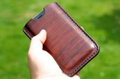 Handmade Leather iPhone Sleeve Case iPhone Brown by LJamesThieman on Etsy Leather Diy Crafts, Leather Projects, Leather Craft, Handmade Leather, Iphone Plus 6, Iphone 6, Iphone Holster, Leather Cell Phone Cases, Leather Wallet Pattern