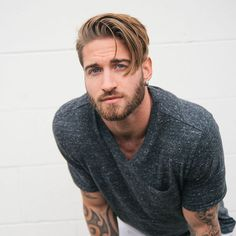 New Hair Men Undercut Beard Styles Ideas Hairstyles With Bangs, Trendy Hairstyles, Hair And Beard Styles, Short Hair Styles, Look Man, Super Hair, Haircuts For Men, Haircut Men, Haircut Styles