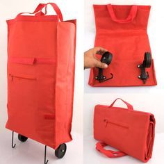 folding bag + wheels