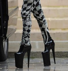 Lady Gaga - Lady Gaga Leaves Her Hotel in Paris Lady Gaga Shoes, Mtv Video Music Award, Patent Leather, Leather Shoes, Paris Hotels, Platform Shoes, Fashion Shoes, Shoe Boots, High Heels