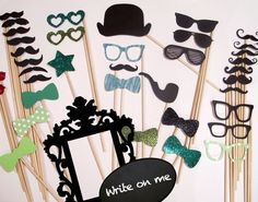 Photobooth Props - Everything you need for the perfect Photo Booth - Includes Ornate Frame and Conversational Bubble. $65.00, via Etsy.