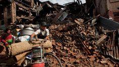 Hoe het der uit ziet na dat de aardbeving heeft plaats gevonden.