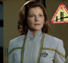 Kathryn Janeway, U.S.S. Voyager NCC-74656-A. I love Janeway. She is my favorite of all the series so far