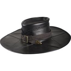 Brown Leather Witch Hunter Hat 10011245 - LARP Leather Hats and Caps