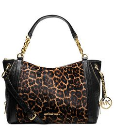 Thanks to my Baby, this is now in my real closet :)  MICHAEL Michael Kors Handbag, Stanthorpe Large Haircalf Satchel
