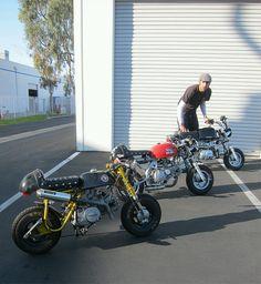 Honda mini bikes as cafe racers Custom Street Bikes, Custom Bikes, Honda Dax, Mini Chopper, Harley Bobber, Pit Bike, Bikes For Sale, Dirtbikes, Vintage Motorcycles