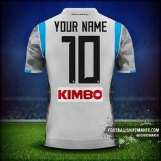 Koszulka SSC Napoli 2018/19 III numer 10 twoje imię Custom Football Shirts, Custom Shirts, Football Shirt Maker, Create Shirts, Shirt Store, Under Armour, How To Make, Tops, Custom Tailored Shirts