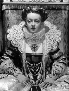 """Bette Davis was a big fan of Elizabeth I and played her twice on screen in """"The Private Lives of Elizabeth and Essex"""" and in """"The Virgin Queen"""" and both featured Joseff Hollywood Jewelry"""