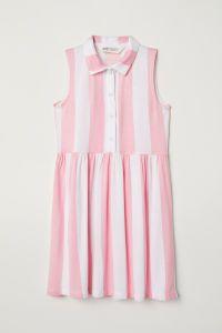 White/pink striped