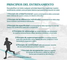 Los principios del entrenamiento. Correr, running, training, entrenamiento