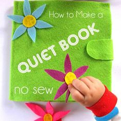 This no sew quiet book tutorial includes all 11 inside pages as well the detailed guide to make the blank quiet book!