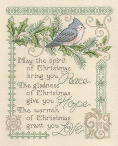 Peace, Hope, & Love - Cross Stitch Pattern