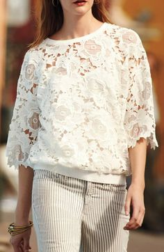 Pieced Petal Pullover | Anthropologie.